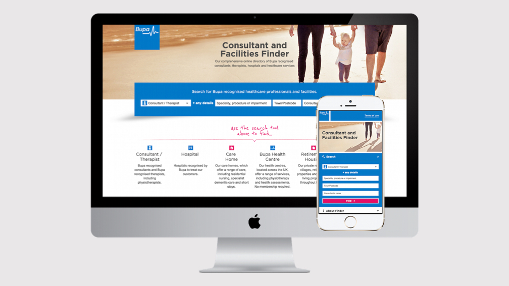 BUPA consultant finder