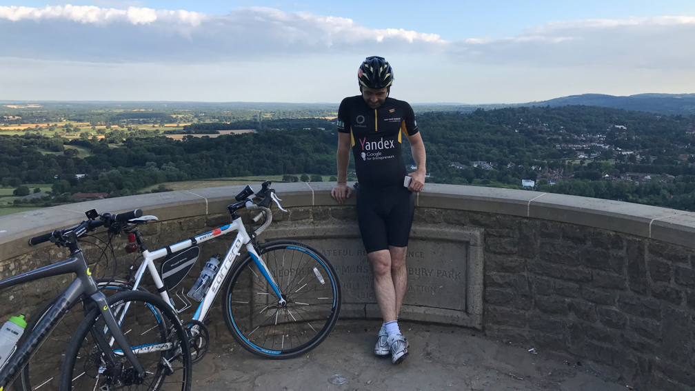 Jason Grant on top of Box Hill