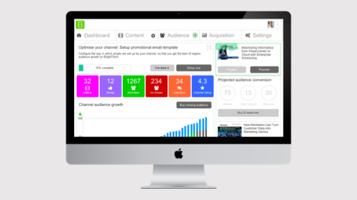 BrightTALK channel owner dashboard